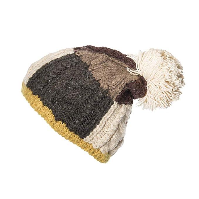 LILICAT❋ Cable de Punto Bobble Hat Liso para Hombre para Mujer ...