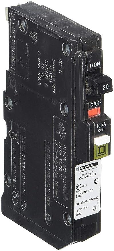 Square D 20Amp 1 Pole Circuit Breaker QO 2pk