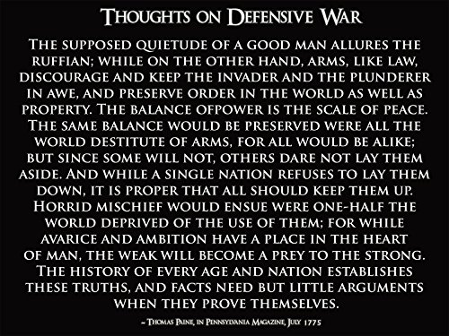 Motivational Poster Thomas Paine Quote Gun Rights Patriotic
