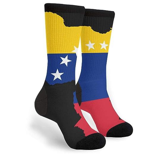 Amazon.com: Venezuela Flag Map Crew Socks - Fun Novelty Socks ...