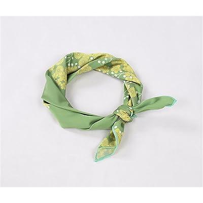 FLYRCX Parure de printemps et d'été de soie cheveux multi-fonctionnelle pour la dame bande Satin foulard impression ramollir 50cmx50cm