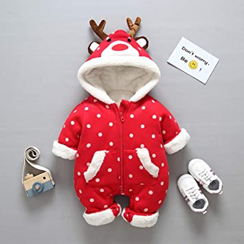 Mameluco/Mono De Bebe/Monos Venado De Navidad/OtoñO E Invierno Suave CáLida Gruesa Bebé NiñOs Peleles: Amazon.es: Deportes y aire libre