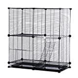 Modular Add-Up Small Cat (Kitten) Small Dog (Puppy) Cage Playpen Series CW63088 (Black Basic)