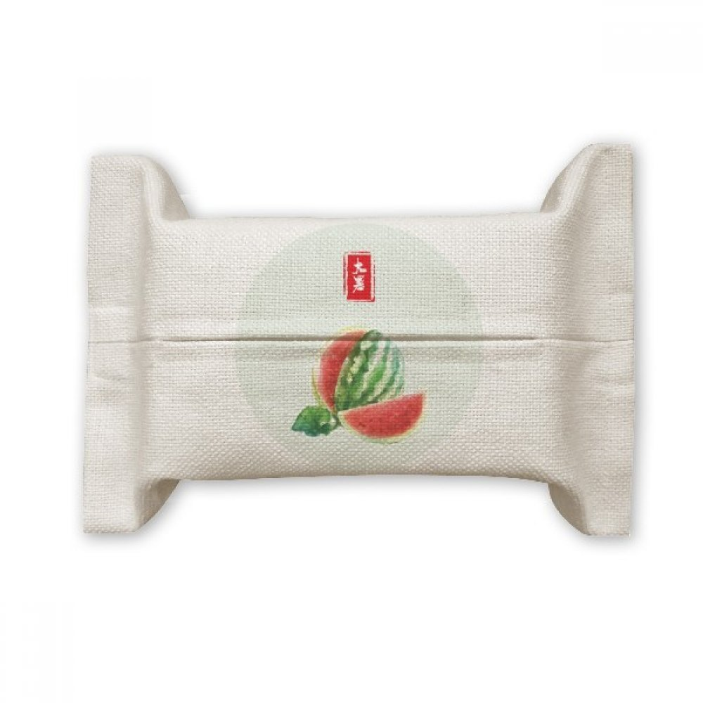 DIYthinker Circlar Great Heat Twenty Four Solar Term Cotton Linen Tissue Paper Cover Holder Storage Container Gift