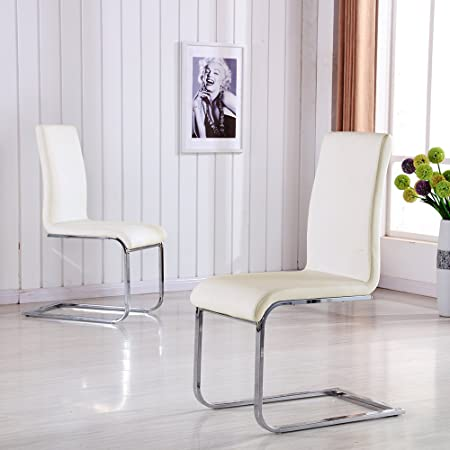 Pleasing Schindora 2X Off White Dining Chair Faux Leather Chairs With Unemploymentrelief Wooden Chair Designs For Living Room Unemploymentrelieforg