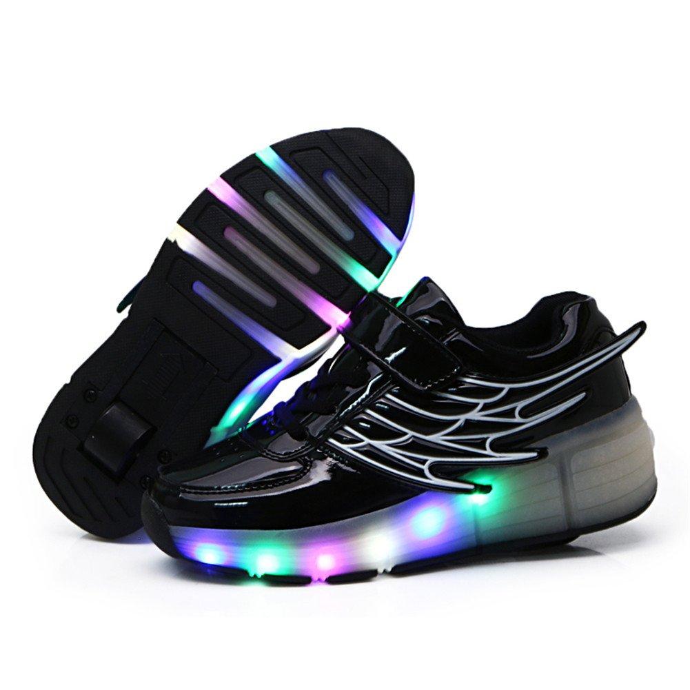 Viken Azer-UK Laufschuhe Sportschuhe Kinder Skateboard Schuhe Kinderschuhe mit Rollen LED Skate Schuhe Trainer Turnschuhe Rollen Schuhe für Junge Mädchen B07CWVCRNV Basketballschuhe Hohe Sicherheit