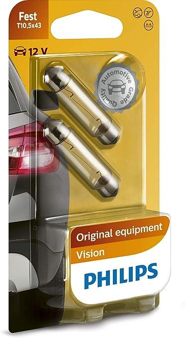 Philips Vision LED T10 Bombillas para interior de coche (2