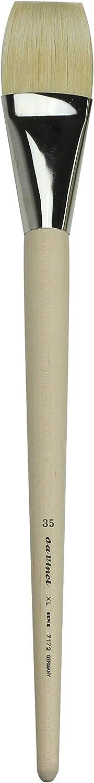 da Vinci Hog Bristle Series 7172 Jumbo Artist Paint Brush Jumbo Flat with Plainwood Handle Size 35