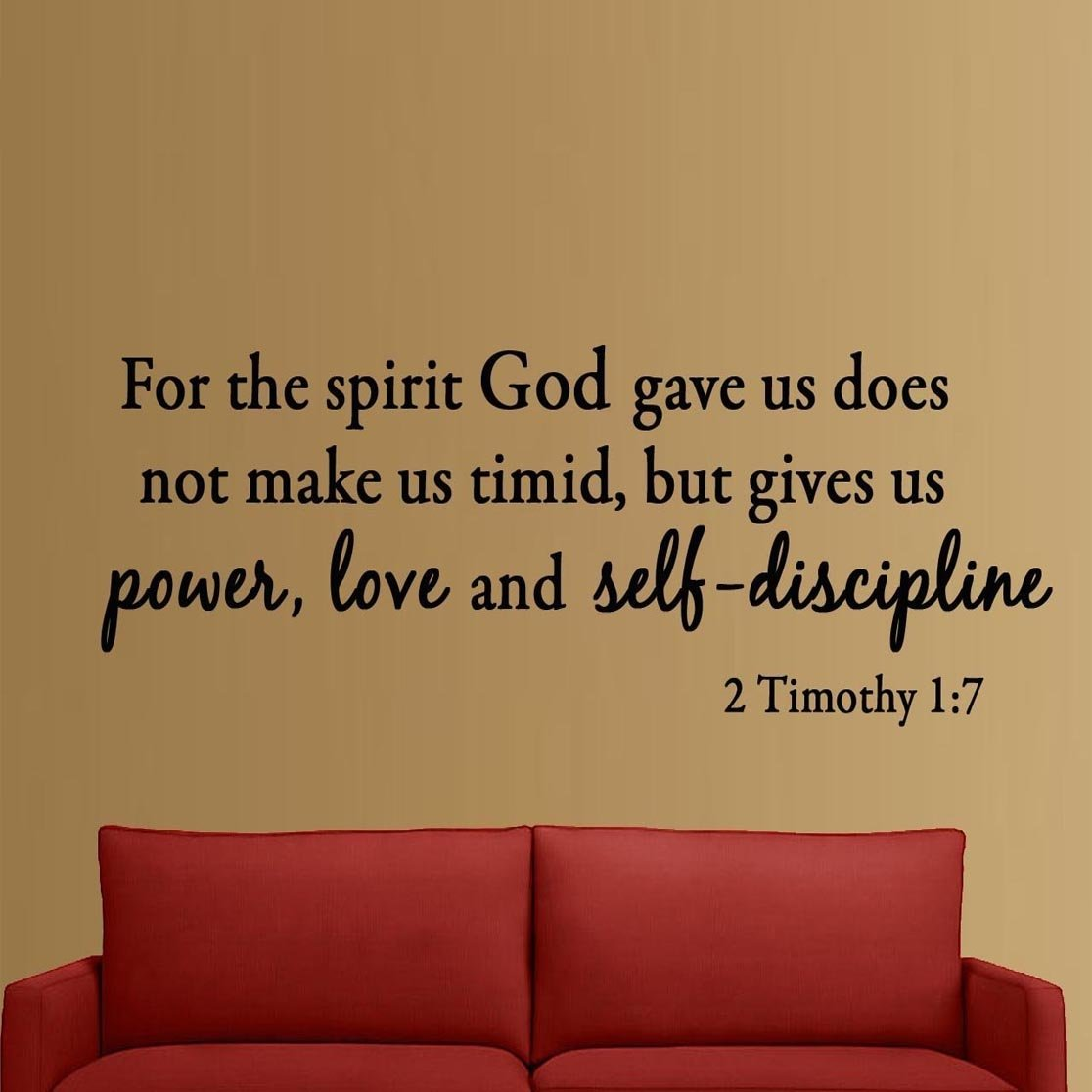 Amazon for the spirit god gave us does not make us timid but amazon for the spirit god gave us does not make us timid but gives us power love and self discipline 2 timothy 17 bible verse inspirational wall amipublicfo Images