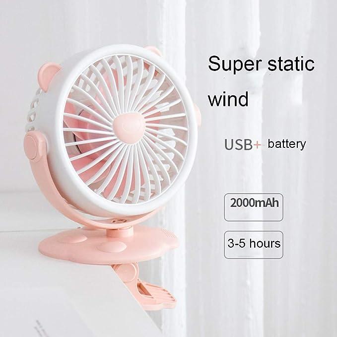 CAOQAO Mini Tipo de Clip Ventilador USB Ventilador Ventilador de 3 ...