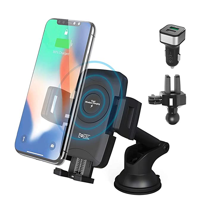 S9 8//8 Plus Samsung Galaxy S10 S8 7.5W Qi Touch Fast Charge Phone Holder Vent Clip for iPhone Xs//Xs Max//XR//X Wireless Car Charger S8 Wireless Charging Board 10W
