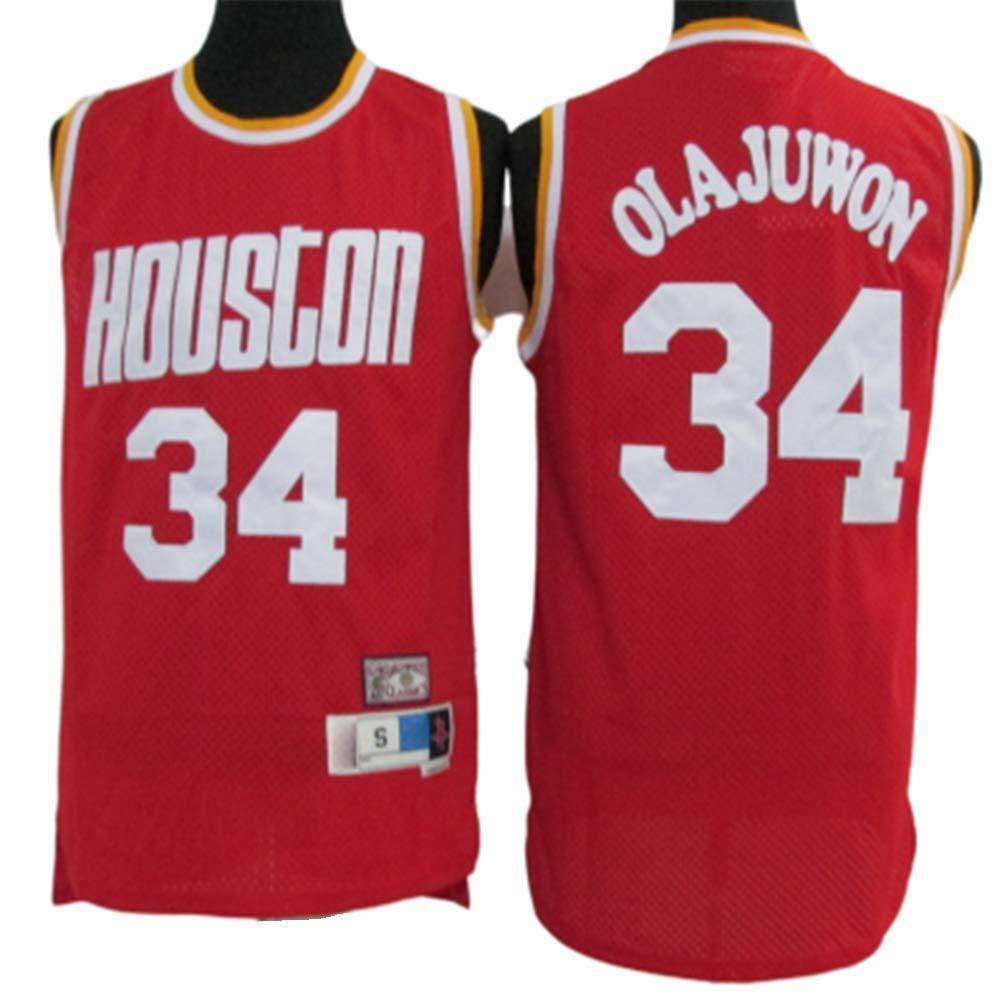 Camiseta De Baloncesto Rockets # 34 Olajuwon Camiseta De ...
