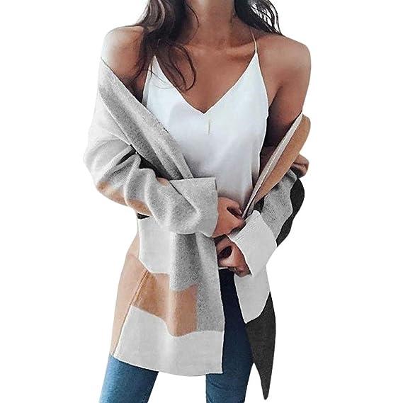 Luckycat Abrigo de Lana Holgado de Invierno de Mujer Abrigo de Jersey de algodón Grueso de