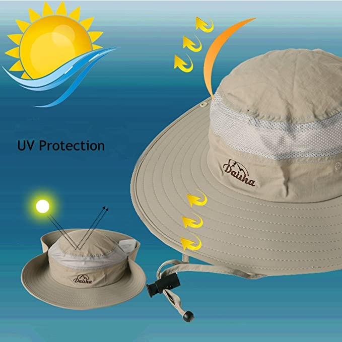 11a09fc1422 Amazon.com   BELIESAFE Wide Brim Fishing Sun Hat Summer Outdoor UV Sun  Protection Fishing Cap Neck Face Flap Hat for Man