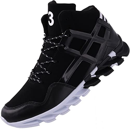 218496bae8a59 JOOMRA Men's Stylish Sneakers High Top Athletic-Inspired Shoes