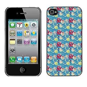 ZECASE Funda Carcasa Tapa Case Cover Para Apple iPhone 4 / 4S No.0004352