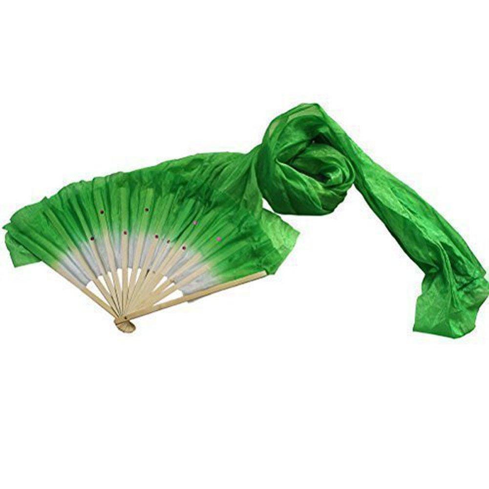 ieenay Ventilateur de Danse en Bambou Fait /à la Main en Soie Motif voiles