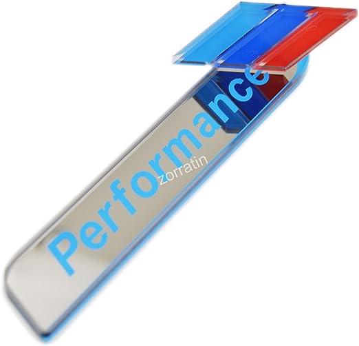 zorratin M Performance 3D Side Pillar Door Fender Trunk Emblem Badge Plate Decal Set SILVER for BMW e46 e90 e90n F10 F20 F30 F35