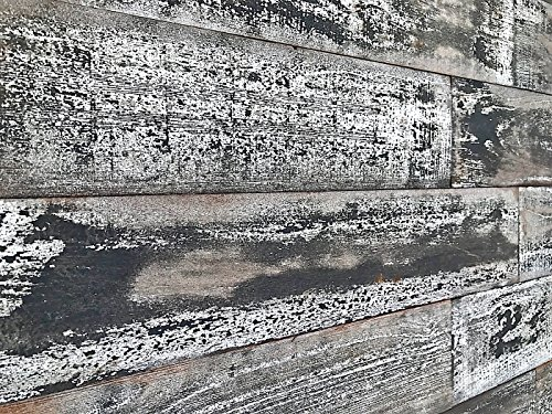 Antique Whitewash Wood - Smart Paneling SPCO521 Country Wood Wall Plank, Whitewash