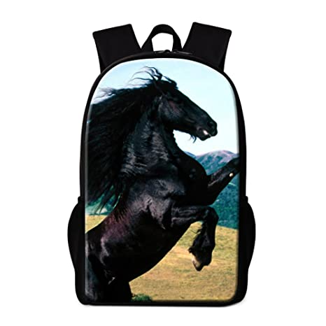 Image Unavailable. Image not available for. Color  Dispalang Horse Backpack  for Children Cool Animal Back to School Backpack for Girls ... e688de7738039