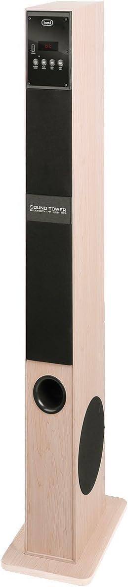 Trevi XT 108 BT 60W Negro, Avena, Madera Altavoz - Altavoces (2.0 Canales, Inalámbrico y alámbrico, Bluetooth/USB/RCA/3.5mm, 60 W, 30 - 20000 Hz, Negro, Avena, Madera)