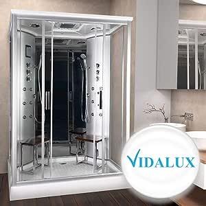 Vidalux Tempest - Armario de ducha de vapor doble (1400 x 900 cm ...