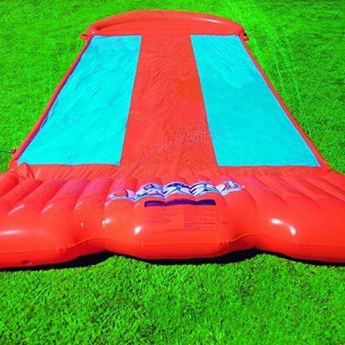 H20 Go doble/triple tobogán de agua velocidad rampa para niños jardín juego: Amazon.es: Jardín