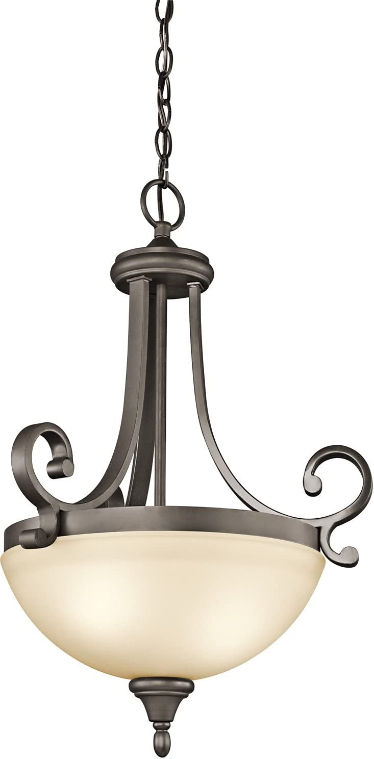 Kichler 43163OZ Monroe Pendant, 2 Light Incandescent 200 Total Watts, Olde Bronze