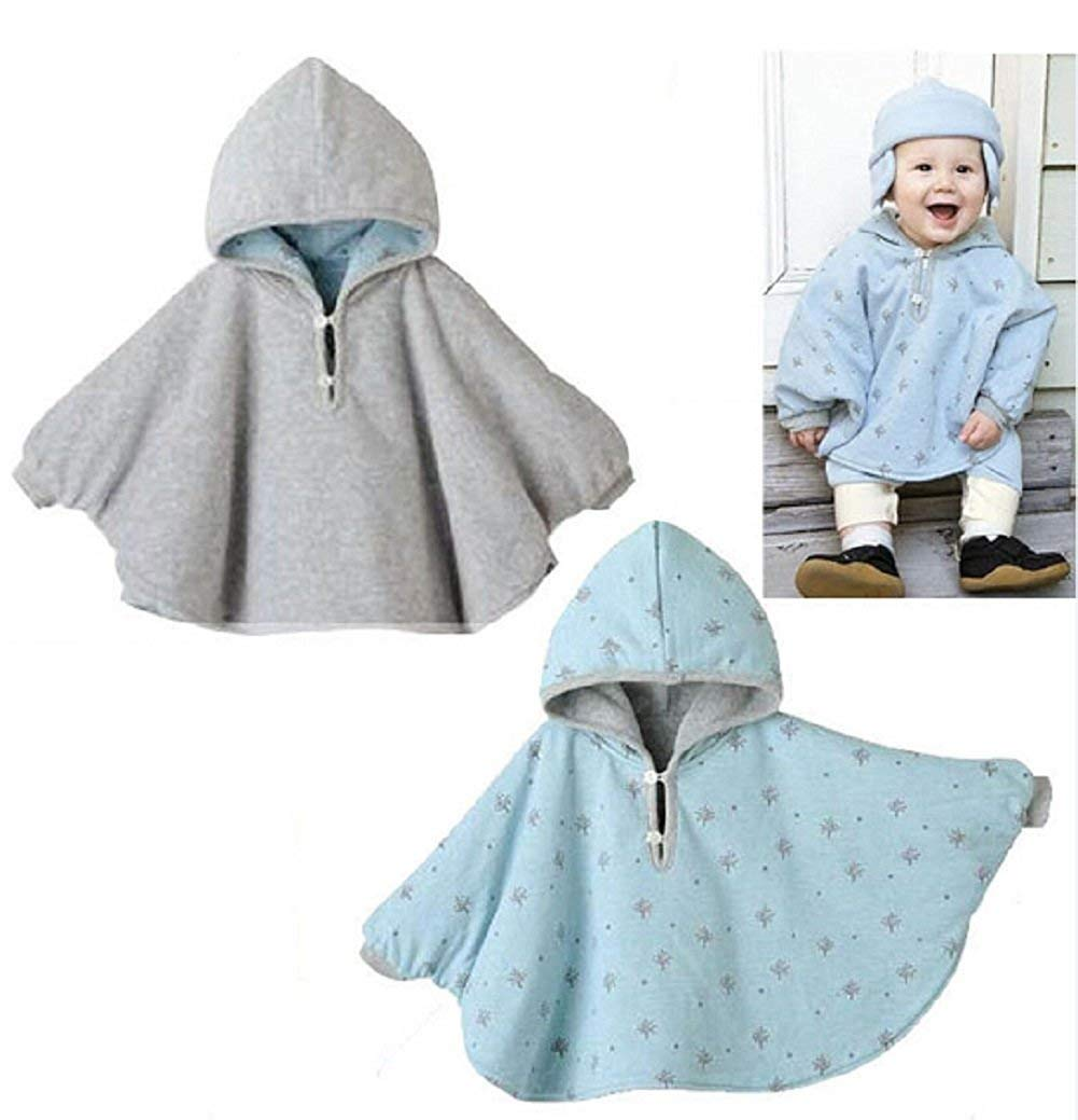Amorar Winter Warm Double-Side Wear Hood Cape Poncho Coat for Toddler Baby Girls Boys