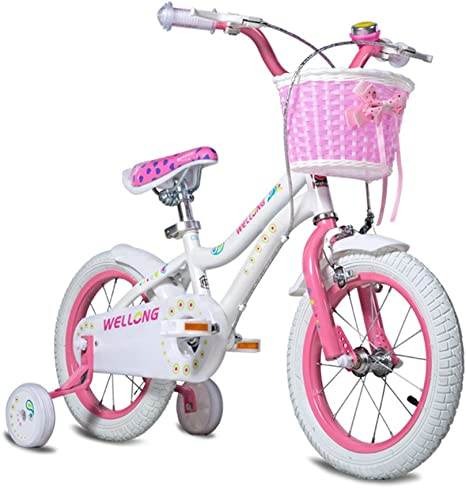 MAZHONG Bicicletas Bicicleta para Niños Rosa Tamaño: 12 Pulgadas ...