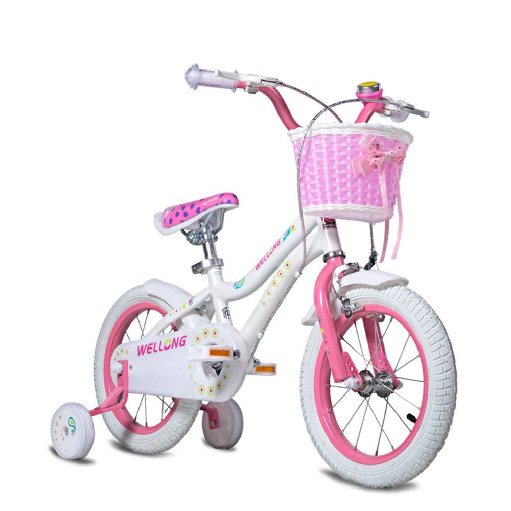 Bicicletas YANFEI Niños Rosa Tamaño: 12 Pulgadas, 14 Pulgadas, 16 Pulgadas Excursión Al Aire Libre Regalo para niños (Tamaño : 12 Inch)