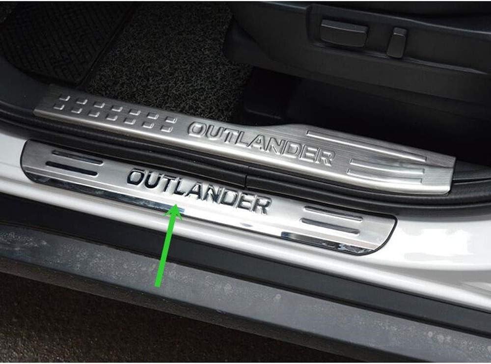 4pcs Rostfreie Autot/üRschwellen-Abnutzungsplattenschutz Auto Styling Zubeh/öR AILZNN Auto T/üR Schwelle Schutz F/üR Mitsubishi Outlander 2013-2019