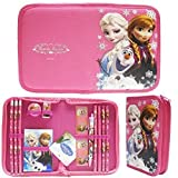 BooTool(TM) Disney Frozen Hot Pink Elsa Anna and Olaf Stationery Set Pack with Case (13 Pcs)