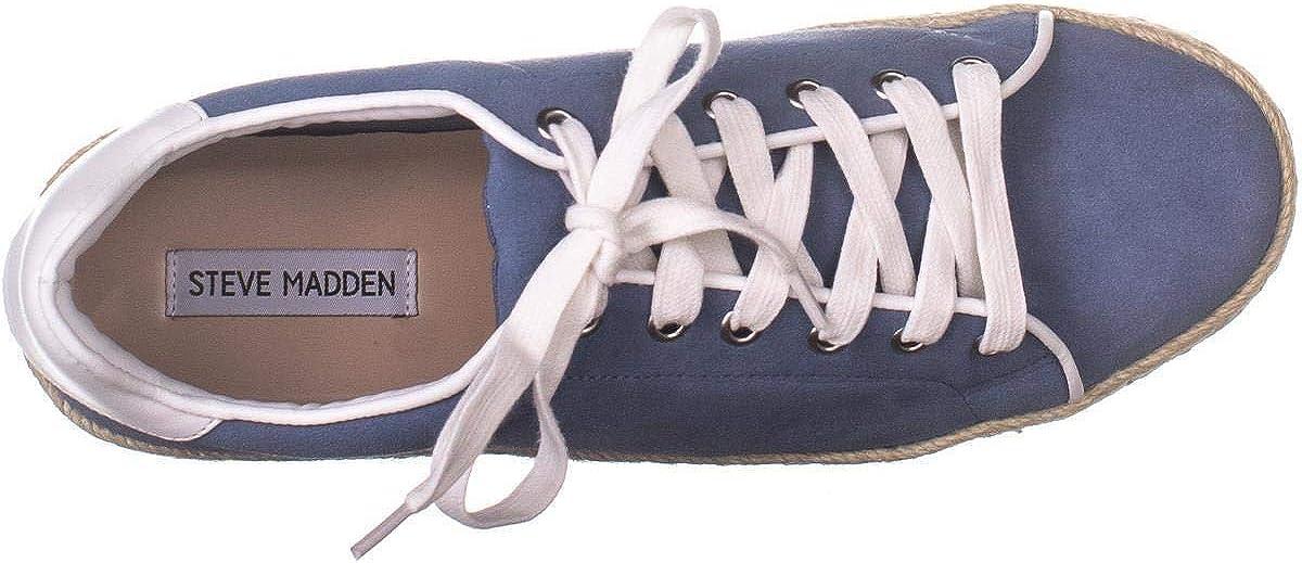 Steve Madden Rule Baskets à Lacets pour Femme Suède Bleu