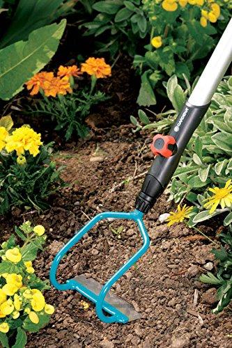 Gardena 3192-20 Ratissoire /à 2 Branches Combisystem 12 cm Large Bleu//Noir