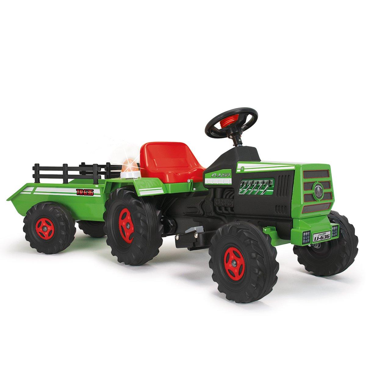 INJUSA - Tractor Basic con remolque con luces y sonidos para niños a ...