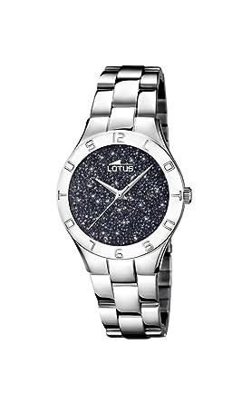 Lotus Watches Reloj Análogo clásico para Mujer de Cuarzo con Correa en Acero Inoxidable 18568/4: Amazon.es: Relojes
