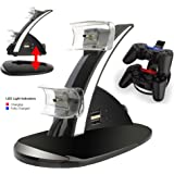 PS3 Controller Charger Docking Station, Playstation 3 Charging Dock, USB Dual Holder Cradle, with LED Indicator