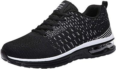 Zapatillas de Running para Hombre Aire Libre y Deporte Transpirables Moda Casual Comodo Malla Zapatos Gimnasio Correr Ligero Sneakers Absorción de Choque Zapatos para Correr vpass: Amazon.es: Ropa y accesorios