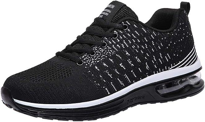 Zapatillas de Running para Hombre Aire Libre y Deporte Transpirables Moda Casual Comodo Malla Zapatos Gimnasio Correr Ligero Sneakers Absorción de Choque Zapatos para Correr vpass: Amazon.es: Zapatos y complementos