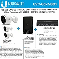 Ubiquiti UVC-G3 (3Pack) IPCamera 1080p + ERPoe-5 Router + UVC-NVR Video Recorder
