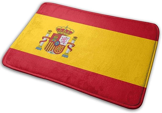 Alfombrilla de baño antideslizante de espuma de memoria Bandera de España Decoración para el hogar Alfombras de guardería Alfombra de entrada interior y exterior, felpudo para el dormitorio del hogar: Amazon.es: Hogar