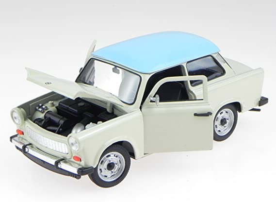 Welly Trabant // Trabi 601 creme 1:34 mit Pullback-Funktion NEU in OVP