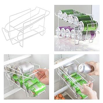 PinShang Soporte para latas de Cerveza, dispensador de refrescos, Organizador de Almacenamiento de refrigerador, Herramienta de Almacenamiento de Bebidas: ...