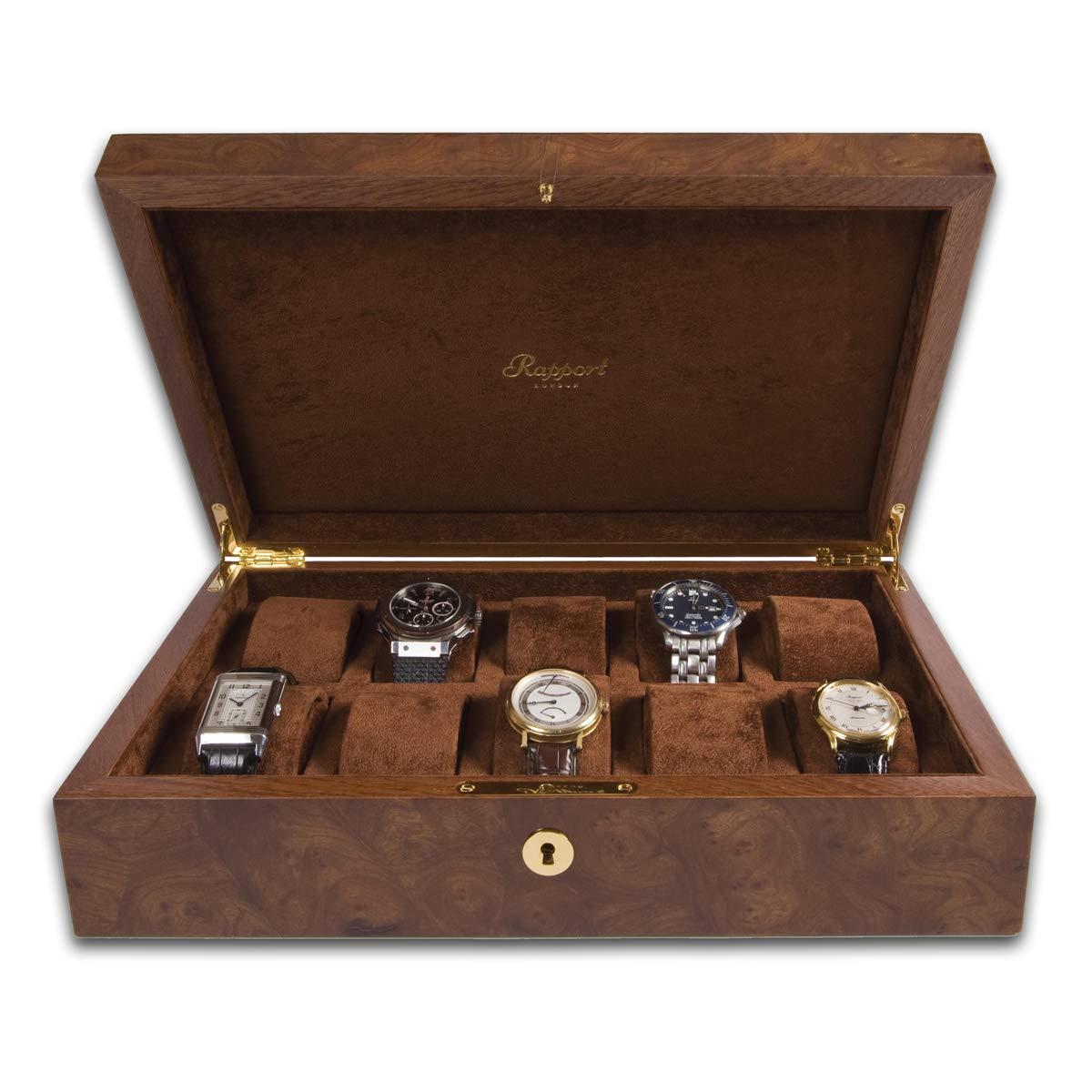 Rapport Heritage 10 Watch Collector Case - Walnut Burl