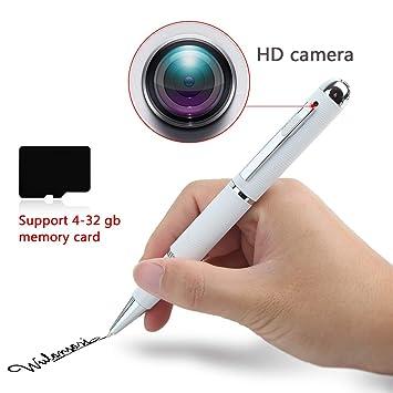 Bolígrafo con cámara Oculta espía HD 1080, Grabación de vídeo Oculto y Sonido Pluma Profesional. Soporte Memoria 32gb. Color Blanco.: Amazon.es: Bricolaje y ...