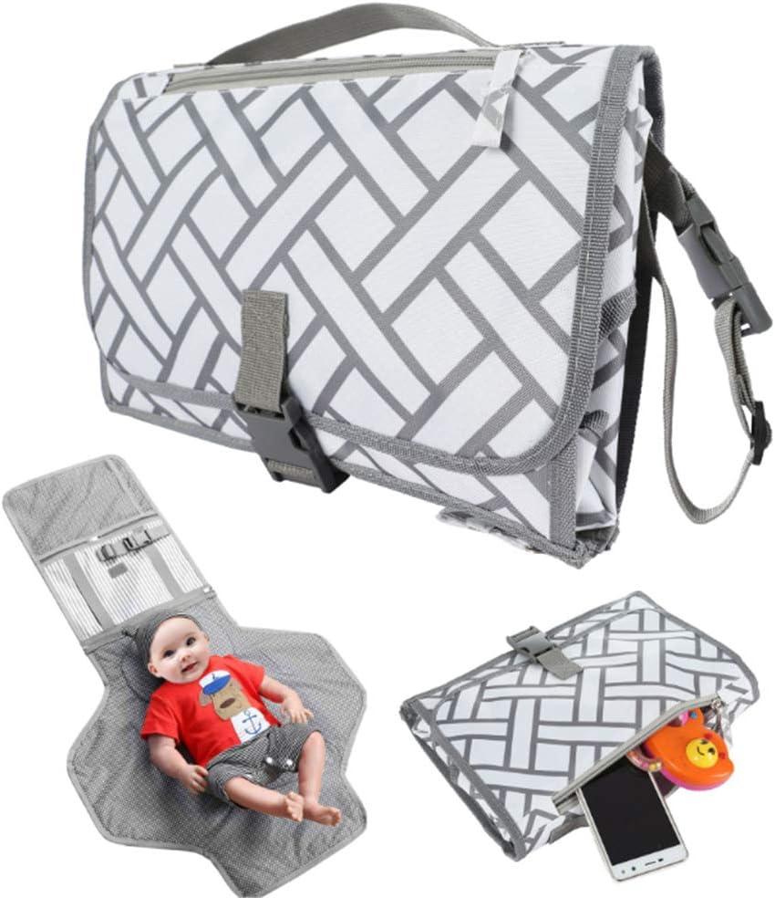 RENS - Cambiador portátil para bebé, bolsa de pañales, multifuncional impermeable, cambiador de pañales, para viajes, al aire libre, bebés, recién nacidos