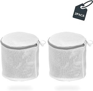 YAWALL Bra Wash Bags, Washing Bags, Mesh Laundry Bags Reusable Travel Storage Organize Bag for Lingerie, Yoga Bra, Hosiery, Stocking, Underwear (2pcs)