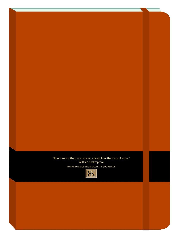 Robert Frederick Large PU Journal with Black & Gold Foil Bellyband - Burnt Orange, Assorted RFS11909