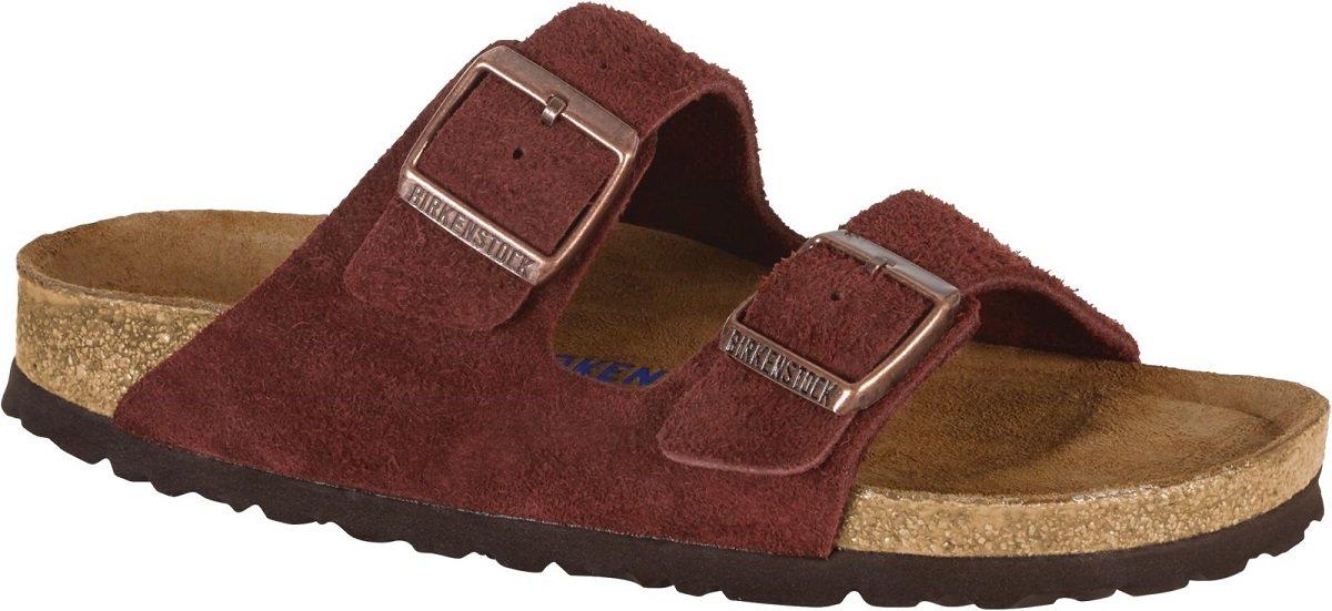 Birkenstock Arizona Soft Footbed Leather Sandal B079K4LDCK 38 (US Men's 5-5.5 / US Women's 7-7.5)|Sfb Port Suede